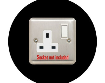 Socket Surround, Single Round Acrylic Back Panel, Hygienic Circle Wall Cover, Trim, Back or Finger Plate Frame