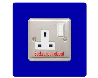 Single Socket Surround   square   acrylic back panel or finger plate   light switch plug