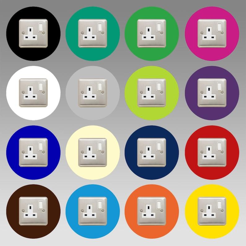Socket Surround   Round / Single    16 COLOURS to choose image 0