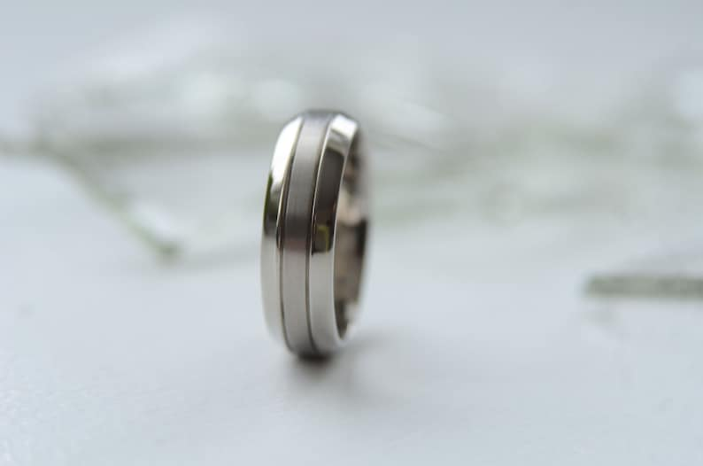 Titanium mens band TT-012 Simple and elegant wedding band anniversary or engagement comfort fit ring