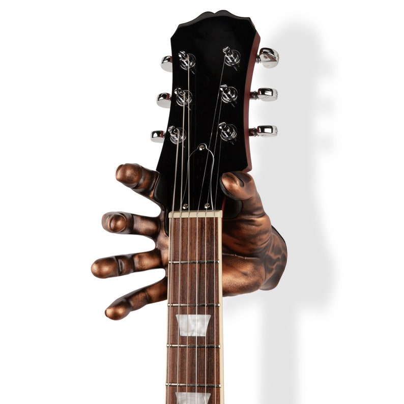 Copper Right Guitar Hanger  Male Hand image 0