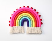 "Rainbow with Pom Pom trim ""Color Baby Color"""