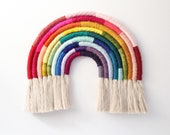 "Fiber Rainbow Wall Hanging ""Vibrant Gradient"""