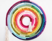 Rainbow  XL Swirl - Fiber Art Wall Hanging Statement Large