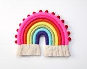 """Rainbow with Pom Pom trim """"Color Baby Color"""""""