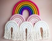 """Fiber Rainbow Sculpture """"Rainbow Mountain"""""""