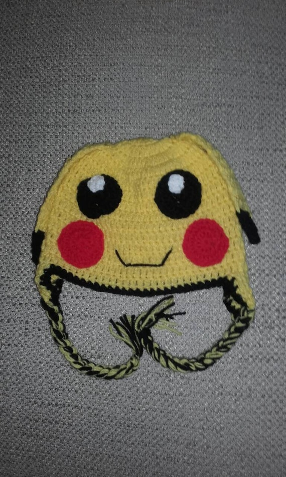 Crochet POKEMON PIKACHU BABY BEANIE INFANT HAT Handmade
