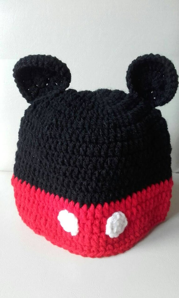 Toddler Mouse hat Crochet mickey mouse hat baby mickey  d0fc703f2d4