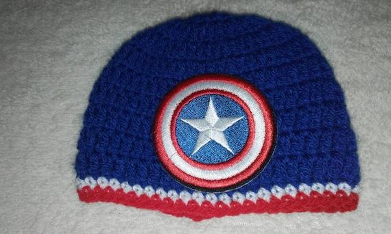 Captain america hat baby boy hat photo prop super hero  40c4d08b4e6c