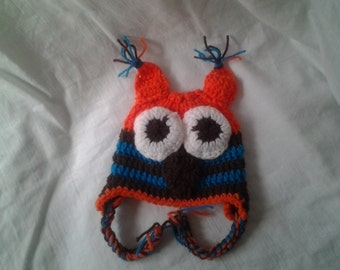 crochet baby boy hat, photo prop owl hat ,newborn boy hat,baby boy hat,