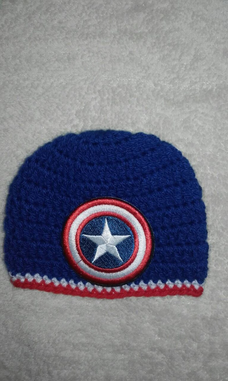 ed978a163 Captain america hat, men beanie hat, super hero, Crochet men hat, men  captain america hat, Crochet captain america hat, ready to ship