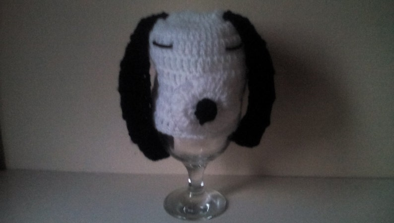 baby snoopy hat newborn snoopy hat snoopy hat Crochet snoopy hat ready to ship