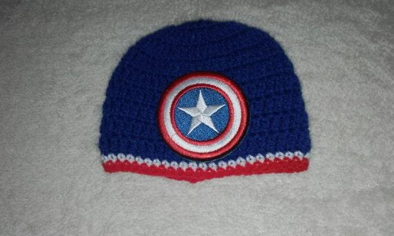 d79ac6afd378b Captain america hat men beanie hat super hero Crochet men