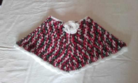 baby girl poncho, crochet girl poncho, baby poncho , toddler poncho,  Christmas poncho, crochet poncho,