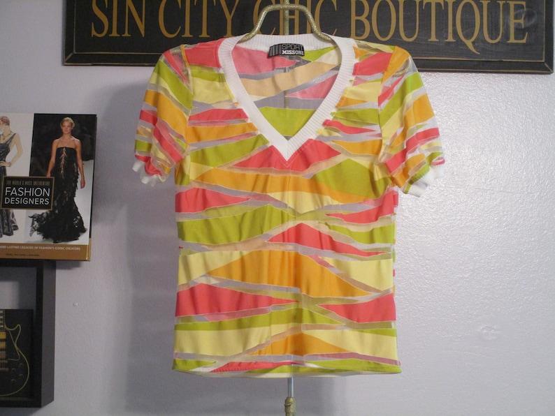 Las Vegas Sin City V Neck Womens Gray Tshirt Striped Sleeve Party Tee Ladies