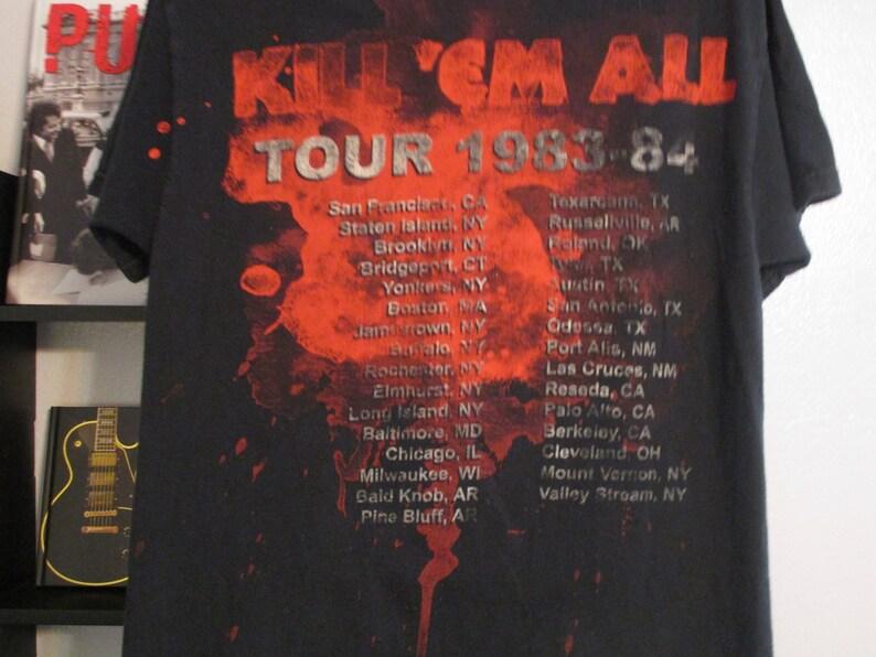 27b68915e86 Metallica Shirt. Kill  Em All. Tour Album Shirt. Vintage