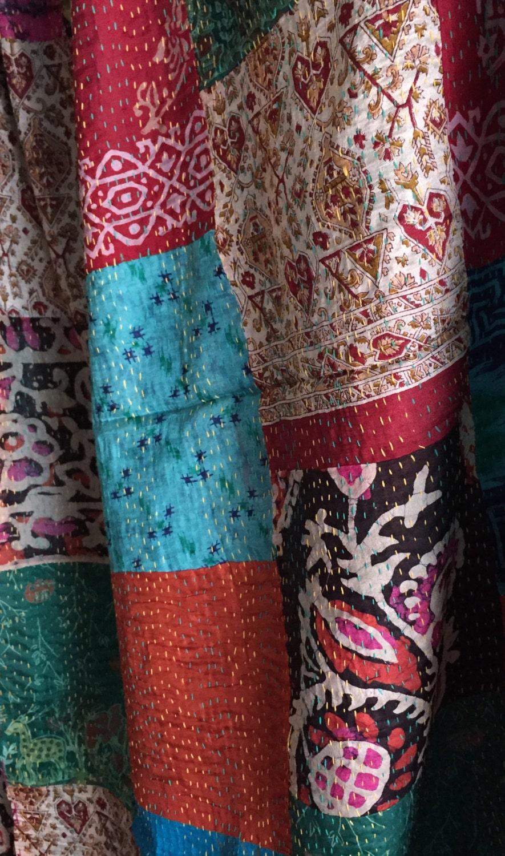 Étoles de soie indienne kantha, foulard en en foulard soie, étole,  patchwork de e8fb00563f2