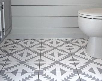 Fliesen Für Küche Bad Wand Boden Oder Treppen Aufkleber Vinyl Aufkleber  Wasserdicht Abnehmbar: W010G Grau