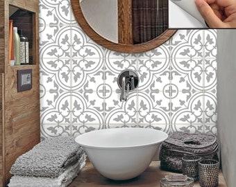 Fliesen Für Küche Bad Wand Boden Oder Treppen Aufkleber Vinyl Aufkleber  Wasserdicht Abnehmbare: M029 Grau