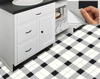Tile Decals Stickers For Kitchen Backsplash Floor Bath Removable  Waterproof: A75 Buffalo Check