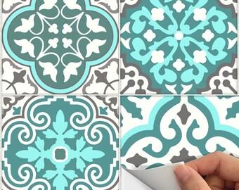 Fliesen Aufkleber Küche, Bad, Boden, Wand, Wasserdicht U0026 N Stick Abnehmbare  Schale: Bmix3T Türkis Blau