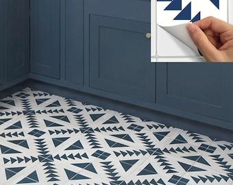 Tile Sticker Kitchen, bath, floor, wall Waterproof & Removable Peel n Stick: W010Navy