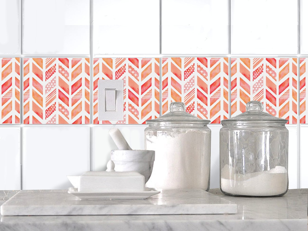 Kitchen Bathroom Tile Decals Vinyl Sticker : CoralDream