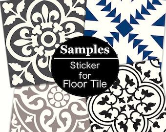 SAMPLE:  1pc FLOOR Tile Sticker, choose size between 7in to 13in