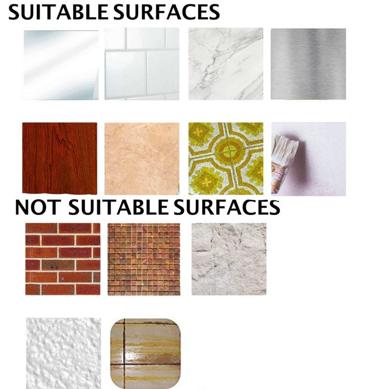 Tile Stickers Waterproof Removable Backsplash Bathroom ...