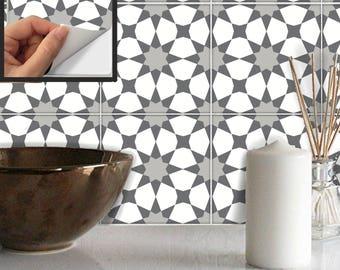 Tile Sticker Kitchen, bath, floor, wall Waterproof & Removable Peel n Stick: A89