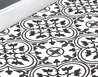 Floor Tile Stickers Vinyl Decal WATERPROOF REMOVABLE for kitchen bath M026