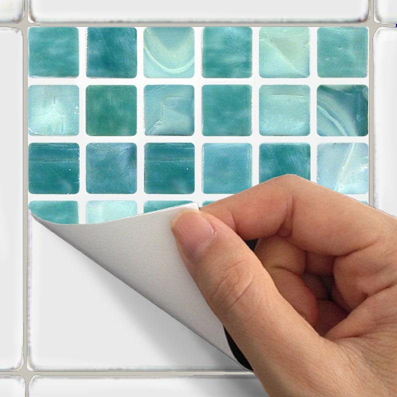 wall tile decals vinyl sticker waterproof tile or wallpaper   etsy