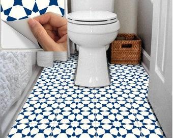 Tile Sticker Kitchen, bath, floor, wall Waterproof & Removable Peel n Stick: Bx302N Navy