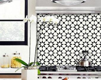 Tile Sticker Kitchen, bath, floor, wall Waterproof & Removable Peel n Stick: Bx302