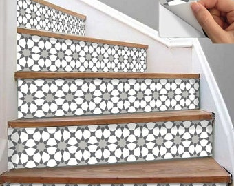 Stair Riser Vinyl Strips 15 steps Removable Sticker Peel & Stick : A89