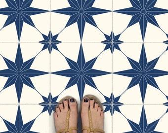 Tile Sticker Kitchen, bath, floor, wall Waterproof & Removable Peel n Stick: A58N Navy