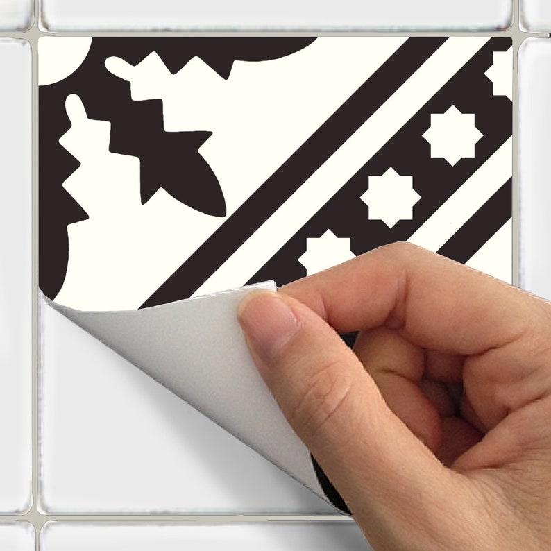 wall Waterproof /& Removable Peel n Stick: A69 Tile Sticker Kitchen bath floor