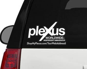 "Plexus Worldwide Window Customized Custom Decal Print Outline 11.5"" x 7"" (Glossy)"