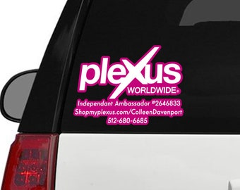 "Plexus Worldwide Window Customized Custom Decal Print Outline 11.5"" x 8.5"" (Glossy)"