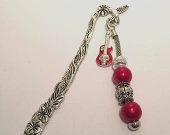Brand-pages red and silver with guitar ref 668