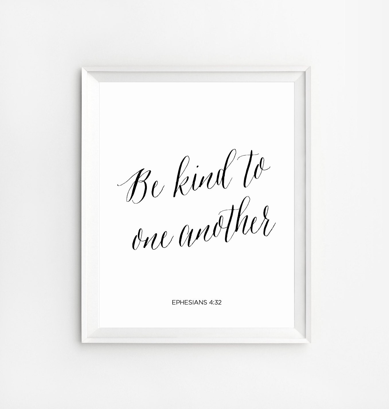 Kindness Quotes Be Kind To One Another Christian Home Decor Etsy