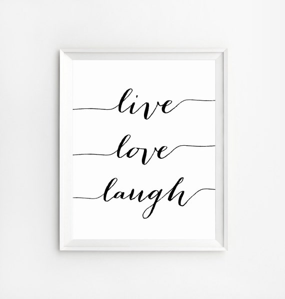 Live Love Laugh Quotes Extraordinary Live Love Laugh Positive Quotes Wall Art Print Wall Art Etsy