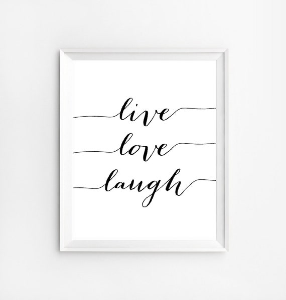 Items Similar To Live Love Laugh Positive Quotes Wall Art Print