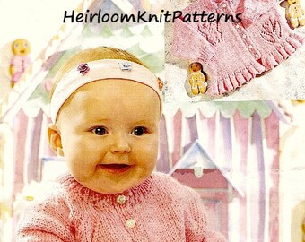 3763f8e5d Baby Boy Girl Cable Cardigan and Sweater Knitting Pattern
