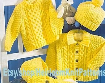 b8c861e92 Baby Child s Jackets Chunky Knitting Pattern PDF
