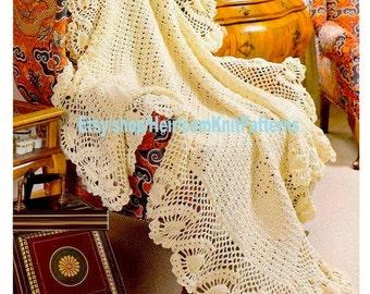 Pineapple Crochet Afghan Pattern Etsy