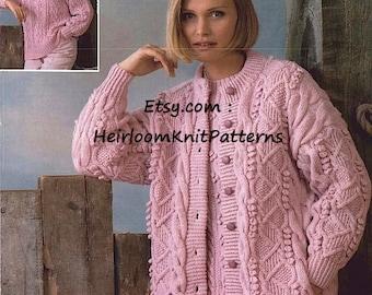 Aran Sweater Pattern Etsy