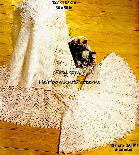 Traditional Baby Square And Circular Shawls Knitting Pattern Etsy