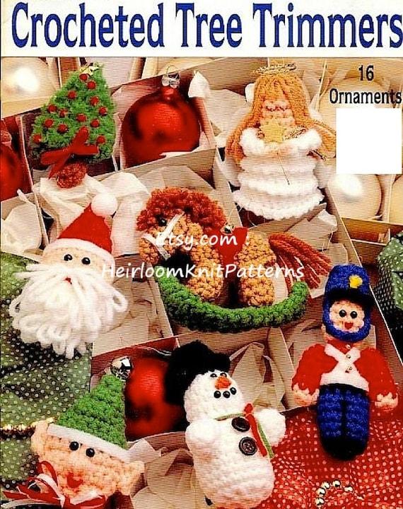 Christmas Tree Decorations Knitting Pattern Angel Baubles Santa Snowman Stocking