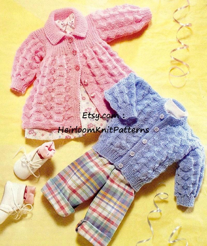 1e8e3e99c262 Baby Boy Girl Cardigan and Matinee Jacket Baby Knitting